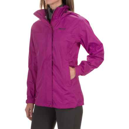 Marmot PreCip® Jacket - Waterproof (For Women) in Wild Rose - Closeouts