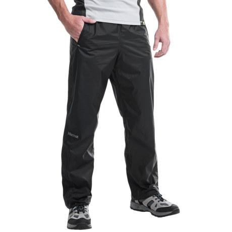Marmot PreCip® Pants - Waterproof (For Men) in Black