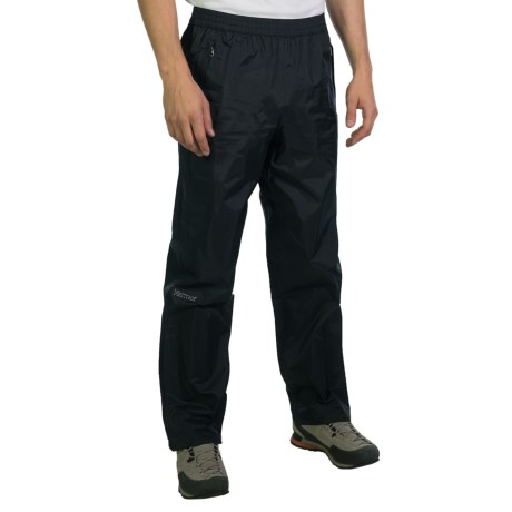 Marmot PreCip® Pants - Waterproof (For Men) in Black