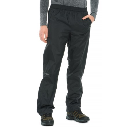 Marmot PreCip® Pants - Waterproof (For Men) in Obsidian