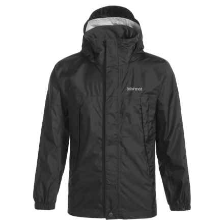 Marmot PreCip® Rain Jacket - Waterproof (For Little and Big Boys) in Black - Closeouts