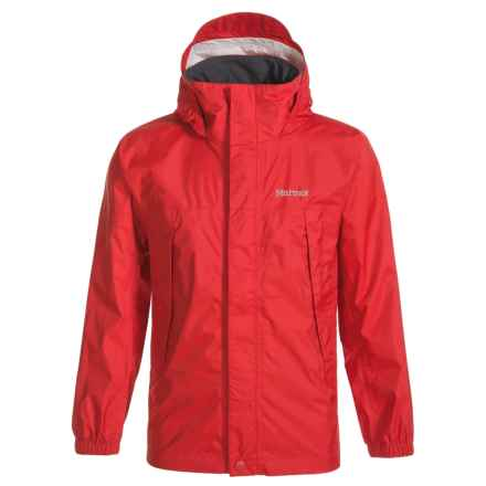 Marmot PreCip® Rain Jacket - Waterproof (For Little and Big Boys) in Team Red - Closeouts