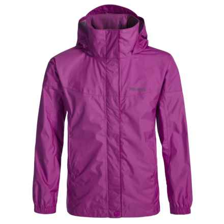 Marmot PreCip® Rain Jacket - Waterproof (For Little and Big Girls) in Purple Orchid - Closeouts