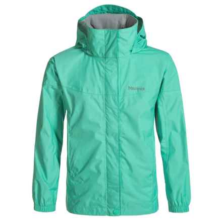 Marmot PreCip® Rain Jacket - Waterproof (For Little and Big Girls) in Waterfall - Closeouts
