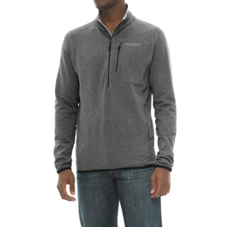 Marmot Preon Fleece Jacket - Zip Neck (For Men) in Black