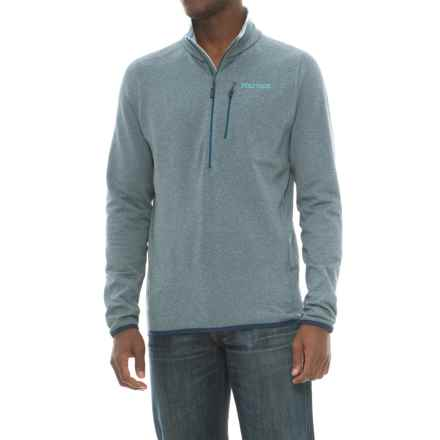 Marmot Preon Fleece Jacket - Zip Neck (For Men) in Denim - Closeouts