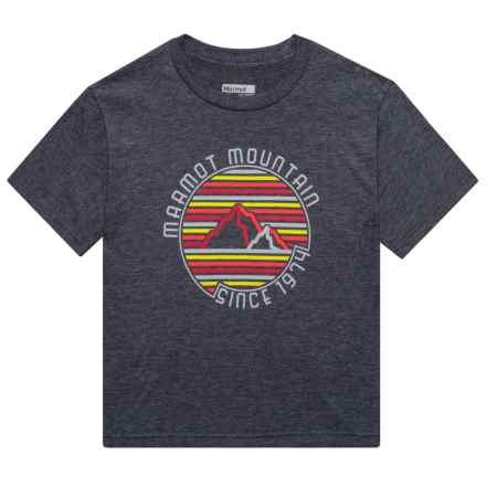 Marmot Purview T-Shirt - Short Sleeve (For Boys) in Slate Grey Heather - Closeouts