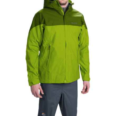 Marmot Quarry Hooded Jacket - Waterproof (For Men) in Green Lichen/Greenland - Closeouts