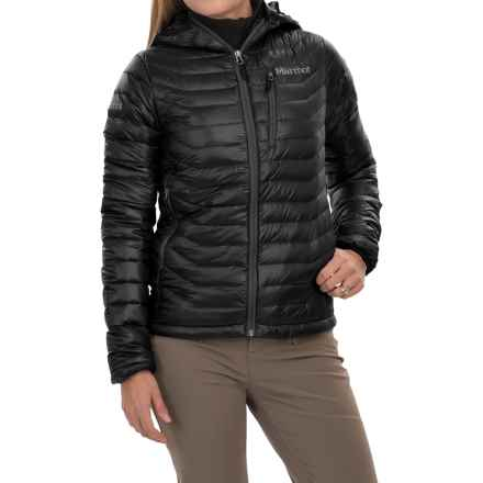 Marmot Quasar Down Hooded Jacket - 850 Fill Power (For Women) in Black - Closeouts