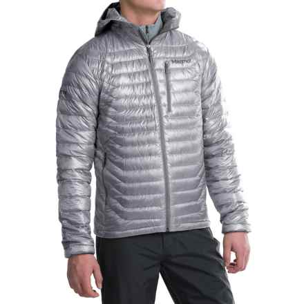 Marmot Quasar Hooded Down Jacket - 850 Fill Power (For Men) in Steel - Closeouts