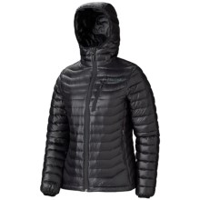 Marmot Quasar Hooded Down Jacket - 900 Fill Power (For Women) in Black - Closeouts