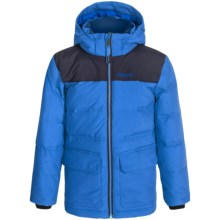 Marmot Rail Down Jacket - Waterproof, 700 Fill Power (For Little and Big Boys) in Cobalt Blue/Dark Ink - Closeouts