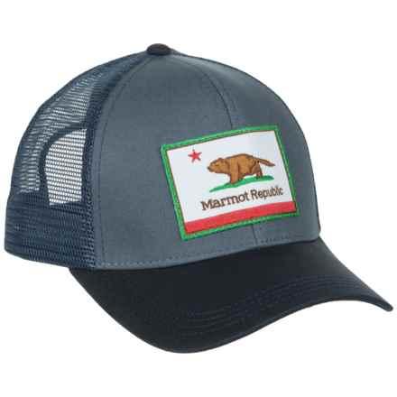 Marmot Republic Trucker Hat (For Men) in Steel Onyx - Closeouts