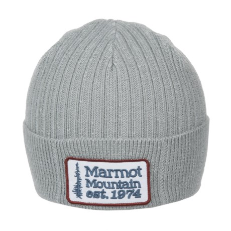 Marmot Retro Trucker Beanie (For Men) in Grey Storm