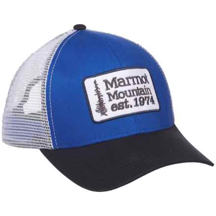 Marmot Retro Trucker Hat (For Men and Women) in True Blue - Closeouts