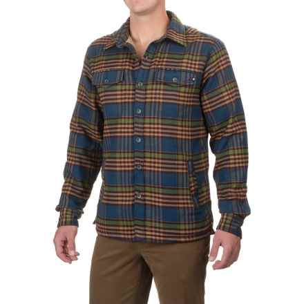 Marmot Ridgefield Sherpa-Lined Shirt - Long Sleeve (For Men) in Vintage Navy - Closeouts