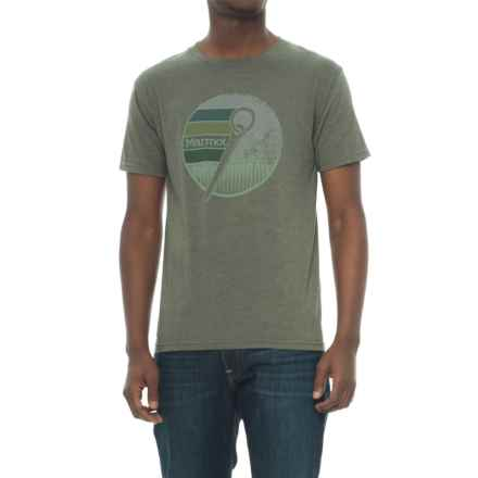 Marmot Rock T-Shirt - Short Sleeve (For Men) in Olive Heather - Closeouts