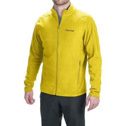 Marmot Rocklin Fleece Jacket (For Men) in Yellow Vapor - Closeouts
