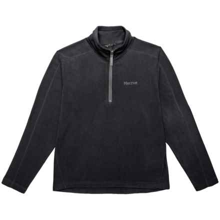 Marmot Rocklin Fleece Jacket - Zip Neck (For Girls) in Black - Closeouts
