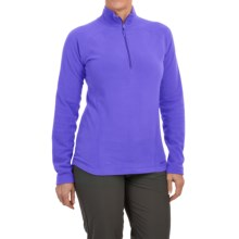 Marmot Rocklin Fleece Pullover Shirt - Zip Neck, Long Sleeve (For Women) in Blue Dusk - Closeouts