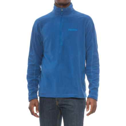 Marmot Rocklin Fleece Shirt - Zip Neck, Long Sleeve (For Men) in Dark Cerulean - Closeouts