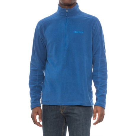 Marmot Rocklin Fleece Shirt - Zip Neck, Long Sleeve (For Men) in Dark Cerulean