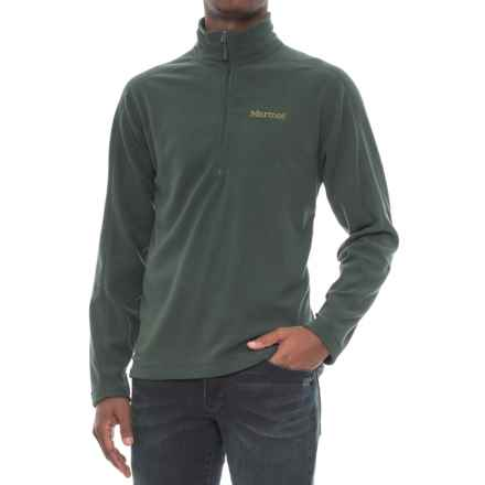Marmot Rocklin Fleece Shirt - Zip Neck, Long Sleeve (For Men) in Dark Spruce - Closeouts