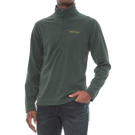 Marmot Rocklin Fleece Shirt - Zip Neck, Long Sleeve (For Men) in Dark Spruce