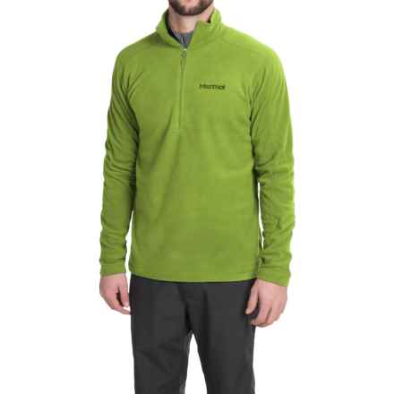 Marmot Rocklin Fleece Shirt - Zip Neck, Long Sleeve (For Men) in Green Lichen - Closeouts