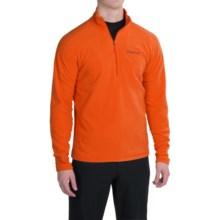 Marmot Rocklin Fleece Shirt - Zip Neck, Long Sleeve (For Men) in Sunset Orange - Closeouts