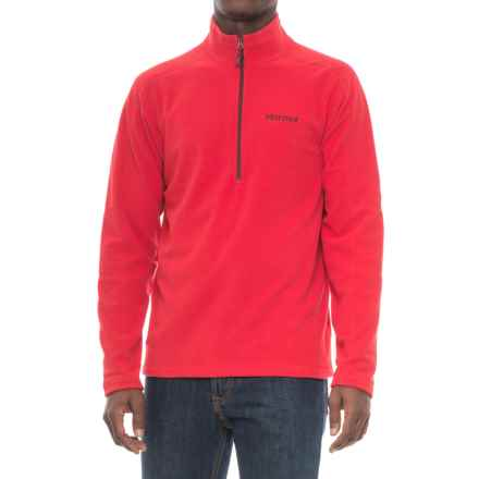Marmot Rocklin Fleece Shirt - Zip Neck, Long Sleeve (For Men) in Team Red/Port - Closeouts