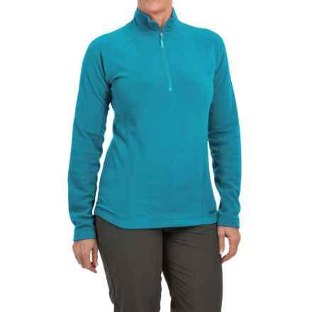 Marmot Rocklin Fleece Shirt - Zip Neck, Long Sleeve (For Women) in Aqua Blue - Closeouts