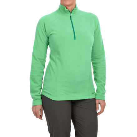 Marmot Rocklin Fleece Shirt - Zip Neck, Long Sleeve (For Women) in Green Frost - Closeouts