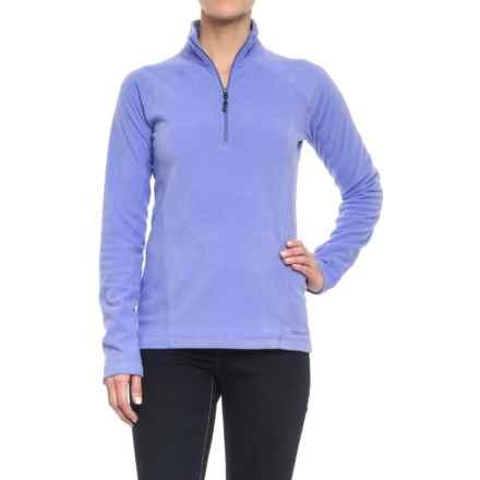 Marmot Rocklin Fleece Shirt - Zip Neck, Long Sleeve (For Women) in Periwinkle - Closeouts