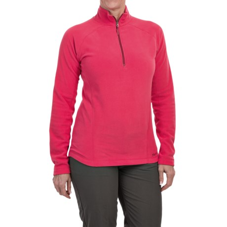 Marmot Rocklin Fleece Shirt - Zip Neck, Long Sleeve (For Women) in Persian Red
