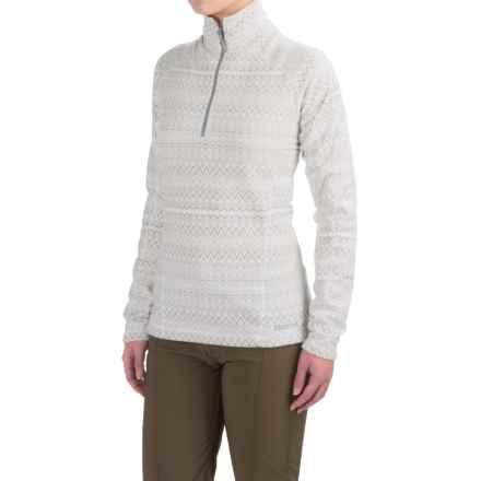 Marmot Rocklin Fleece Shirt - Zip Neck, Long Sleeve (For Women) in Soft White Alps - Closeouts