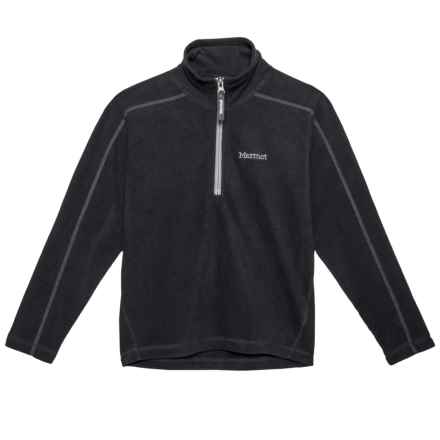 Marmot Rocklin Pullover - Zip Neck, Long Sleeve (For Little and Big Girls) in Black - Closeouts