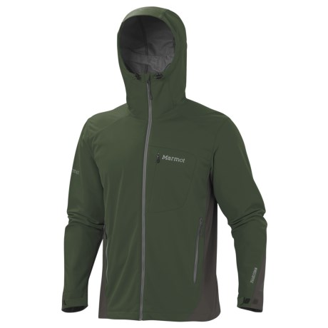 Marmot ROM Soft Shell Jacket - Windstopper® (For Men) in Fatigue/Beluga