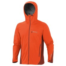 Marmot ROM Soft Shell Jacket - Windstopper® (For Men) in Sunset Orange/Orange Rust - Closeouts