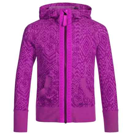 Marmot Sadie Hoodie - UPF 30 (For Little and Big Girls) in Neon Berry - Closeouts