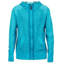 Marmot Sadie Hoodie - UPF 30, Full Zip (For Little and Big Girls) in Blue Sea - Closeouts