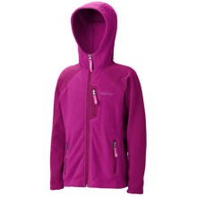 Marmot Sasha Fleece Hoodie Jacket (For Girls) in Berry Rose/Plum Rose - Closeouts