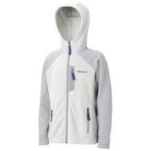 Marmot Sasha Fleece Hoodie Jacket (For Girls) in White/Silver - Closeouts