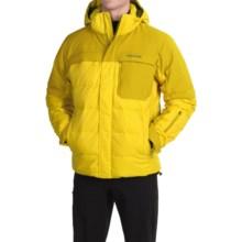 Marmot Shadow Down MemBrain® Ski Jacket - 700 Fill Power, Waterproof (For Men) in Yellow Vapor/Green Mustard - Closeouts