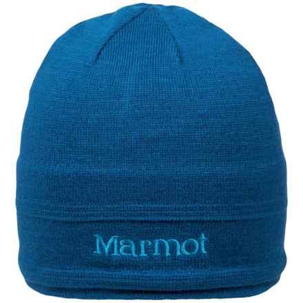 Marmot Shadows Beanie Hat - Wool (For Men) in Dark Cerulean - Closeouts