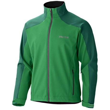Marmot Sharp Point Soft Shell Jacket - Windstopper®  (For Men) in Dark Fern/Wintergreen