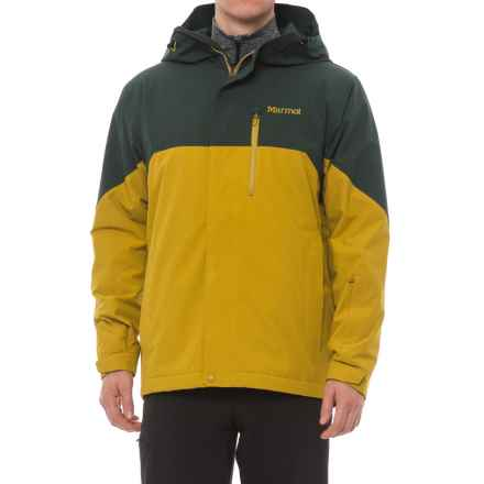 Marmot Sidecut MemBrain® Jacket - Waterproof, Insulated (For Men) in Dark Spruce/Golden Palm - Closeouts