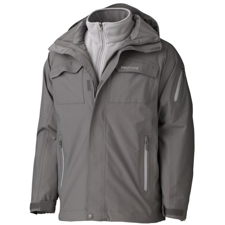 Marmot Sidehill Component Jacket - Waterproof, 3-in-1 (For Men) in Cinder