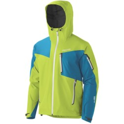 Marmot Silverton Gore-Tex® Pro Shell Jacket - Waterproof (For Men) in Green Lime/Methyl Blue