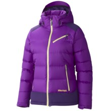 Marmot Sling Shot Down Jacket - 650 Fill Power (For Women) in Vibrant Purple/Deep Purple - Closeouts